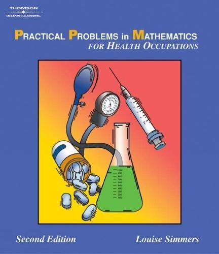 9781401840013: Practical Problems in Math for Health Occupations (Applied Mathematics)
