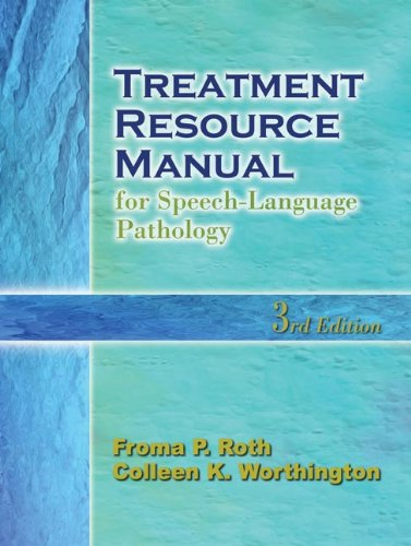 9781401840365: Treatment Resource Manual for Speech-Language Pathology
