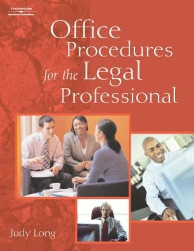 Office Procedures for the Legal Professional (Legal Office Procedures): Long, Judy A.