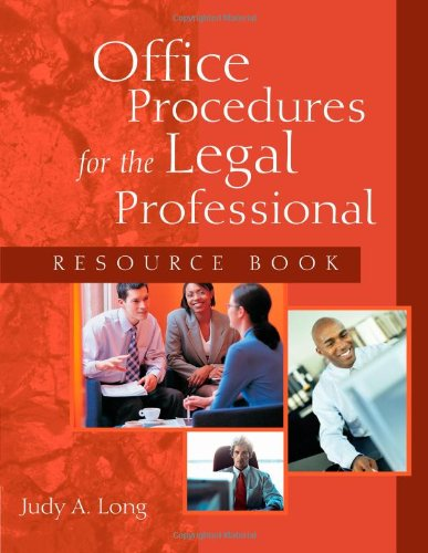 9781401840853: Office Procedures For The Legal Professional (West Legal Studies)