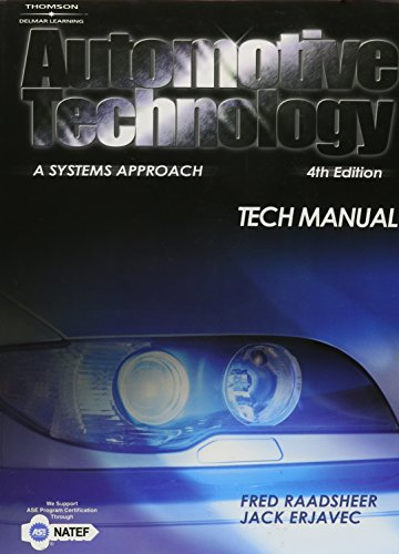 9781401848330: Tech Manual for Erjavec's Automotive Technology: A Systems Approach, 4th