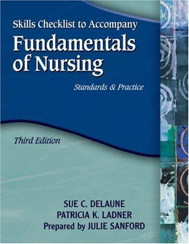 9781401859206: Skills Checklist for DeLaune/Ladner's Fundamentals of Nursing: Standards and Practice, 3rd