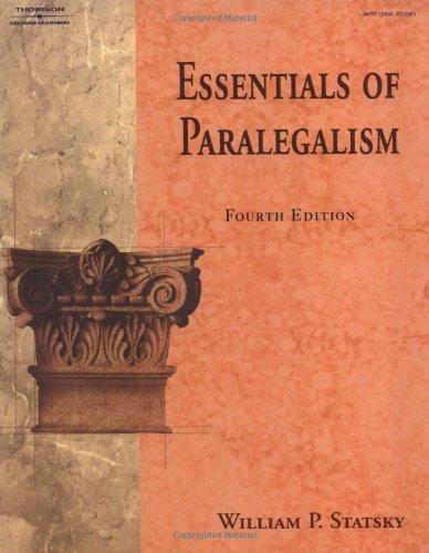 9781401861933: Essentials of Paralegalism