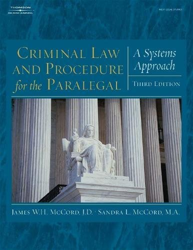 9781401865641: Criminal Law and Procedure for the Paralegal: A Systems Approach