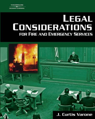 9781401865719: Legal Considerations for Fire and Emergency Services