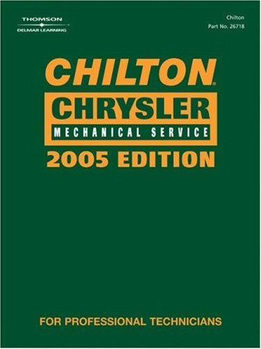9781401867188: Chilton 2005 Chrysler Mechanical Service Manual: (2001-2005) (Chilton Mechanical Manuals)