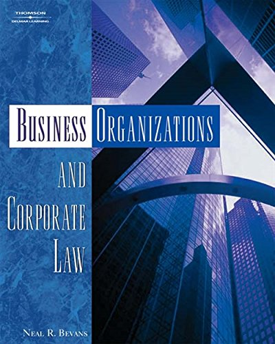 9781401870836: Business Organizations and Corporate Law