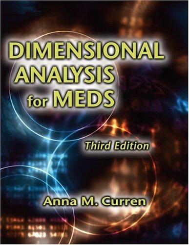 9781401878016: Dimensional Analysis for Meds