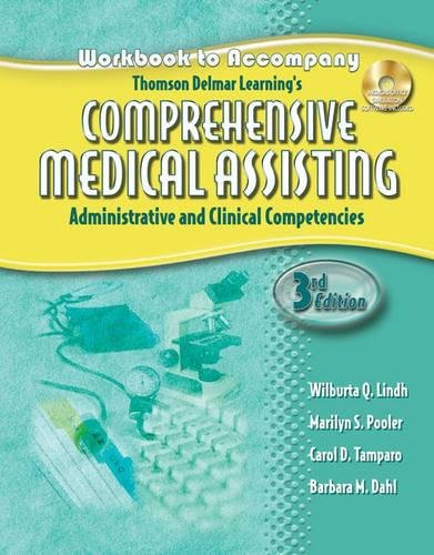 9781401881252: Workbook for Lindh/Pooler/Tamparo/Dahl's Delmar's Comprehensive Medical Assisting: Administrative and Clinical Competencies, 3rd