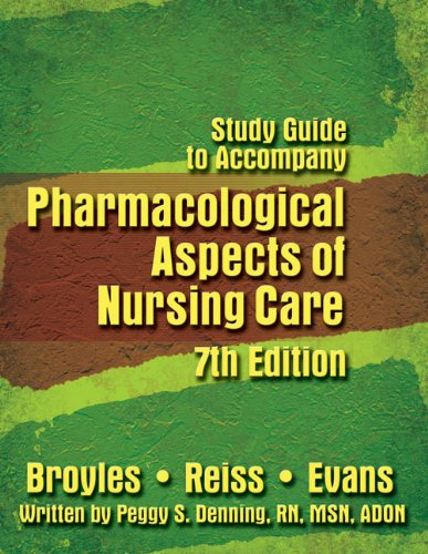 9781401888879: Pharmacological Aspects of Nursing Care (Study Guide)