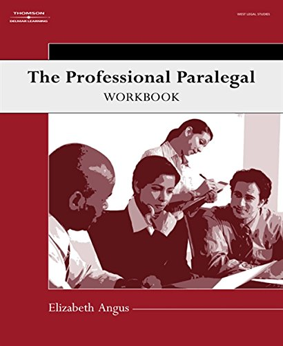 9781401889197: The Professional Paralegal Workbook (Available Titles CengageNOW)