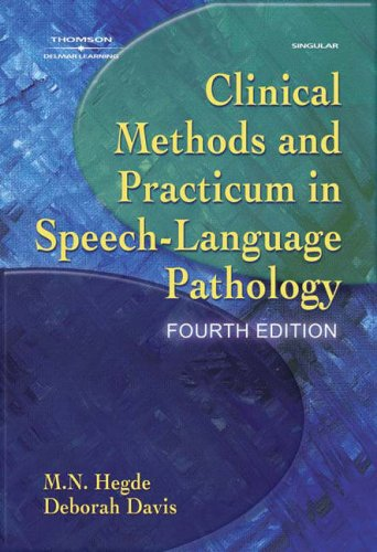 9781401891534: Clinical Methods and Practicum in Speech-Language Pathology