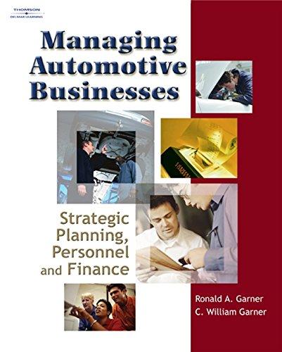 9781401898960: Managing Automotive Businesses: Strategic Planning, Personnel and Finances