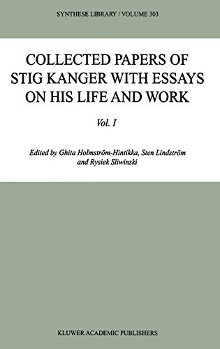 9781402000218: Collected Papers of Stig Kanger with Essays on his Life and Work (Synthese Library)