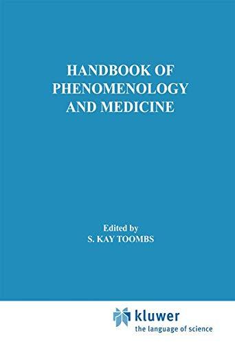 9781402001512: Handbook of Phenomenology and Medicine