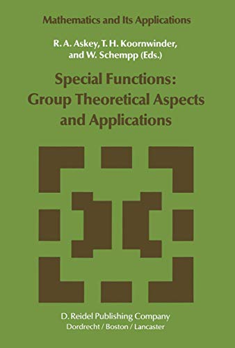 9781402003196: Special Functions: Group Theoretical Aspects and Applications