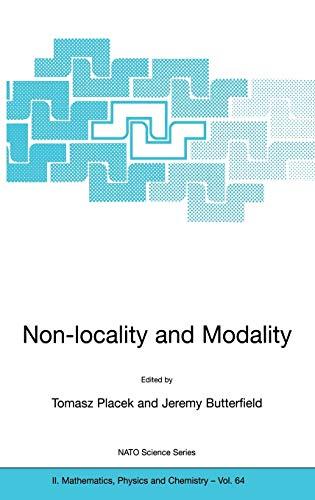 9781402006616: Non-locality and Modality (Nato Science Series II:)