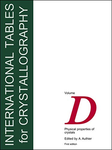 9781402007149: International Tables for Crystallography,Volume D: Physical properties of crystals