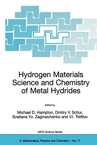 9781402007316: Hydrogen Materials Science and Chemistry of Metal Hydrides (Nato Science Series II:)