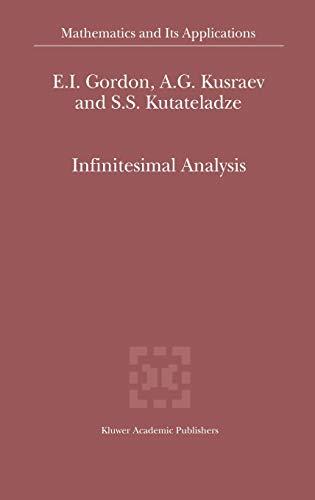 9781402007385: Infinitesimal Analysis (Mathematics and Its Applications)