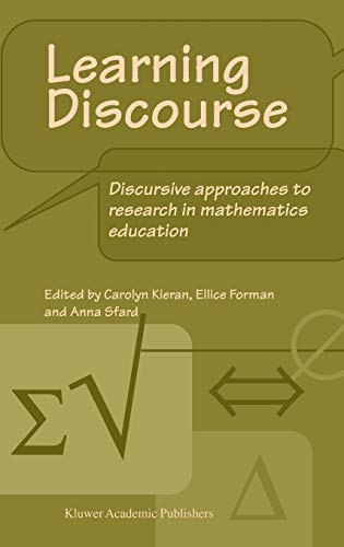 Learning Discourse Discursive approaches to research in mathematics education