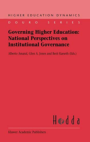 9781402010781: Governing Higher Education: National Perspectives on Institutional Governance (Higher Education Dynamics)