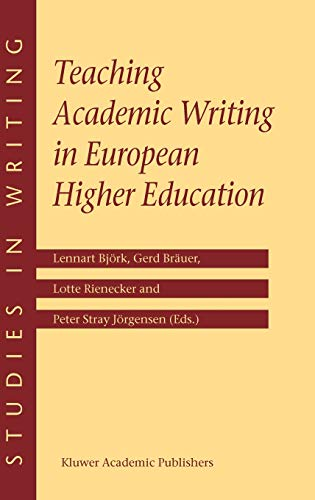 9781402012082: Teaching Academic Writing in European Higher Education (Studies in Writing)