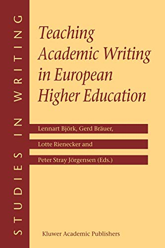 9781402012099: Teaching Academic Writing in European Higher Education (Studies in Writing)