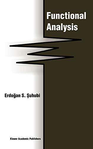 9781402016165: Functional Analysis