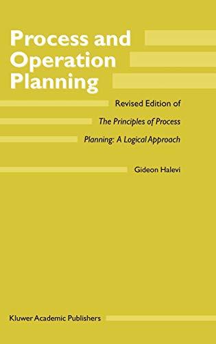 Process and Operation Planning: G. Halevi