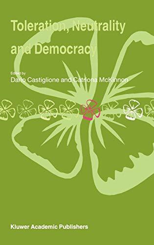 9781402017605: Toleration, Neutrality and Democracy