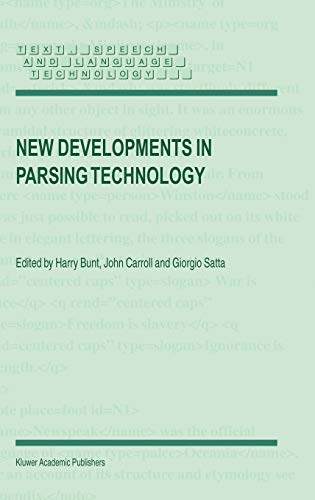 9781402022937: New Developments in Parsing Technology (Text, Speech and Language Technology)