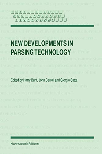 9781402022944: New Developments in Parsing Technology (Text, Speech and Language Technology)