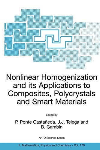 9781402026225: Nonlinear Homogenization and its Applications to Composites, Polycrystals and Smart Materials: Proceedings of the NATO Advanced Research Workshop, held in Warsaw, Poland, 23-26 June 2003