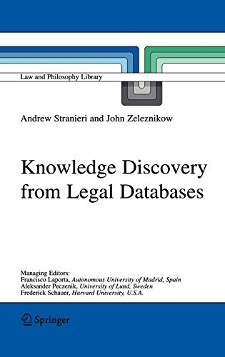 9781402030369: Knowledge Discovery From Legal Databases
