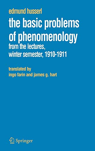 9781402037870: The Basic Problems of Phenomenology: From the Lectures, Winter Semester, 1910-1911 (Husserliana: Edmund Husserl – Collected Works)