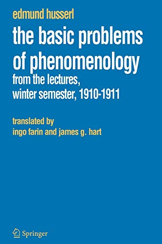 9781402037887: The Basic Problems of Phenomenology: From the Lectures, Winter Semester, 1910-1911 (Husserliana: Edmund Husserl – Collected Works)