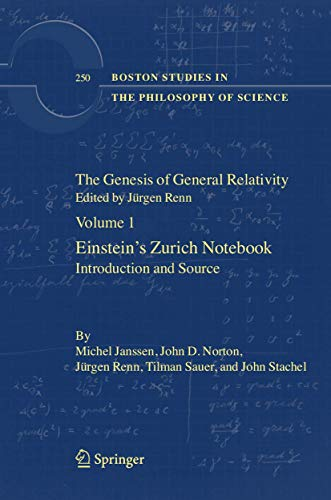 GENESIS OF GENERAL RELATIVITY, 4 VOLUMES SET: RENN,J.