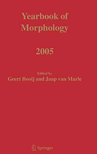Yearbook of Morphology 2005 (Hardback)
