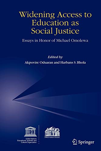 9781402043239: Widening Access to Education as Social Justice: Essays in Honor of Michael Omolewa