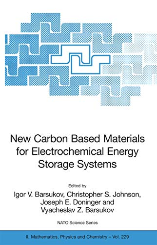 9781402048104: New Carbon Based Materials for Electrochemical Energy Storage Systems: Batteries, Supercapacitors and Fuel Cells (Nato Science Series II:)
