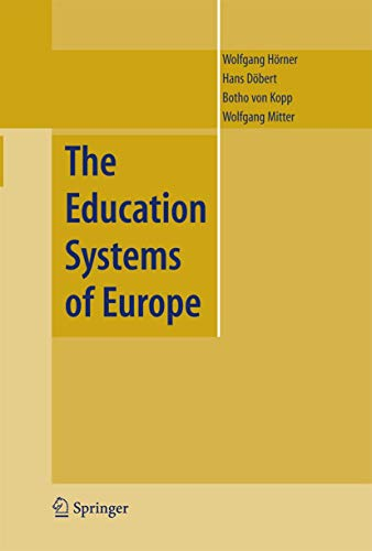 9781402048685: The Education Systems of Europe