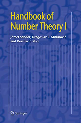 9781402048814: Handbook of Number Theory I: v. 1