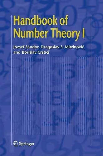 9781402048814: Handbook of Number Theory I (v. 1)
