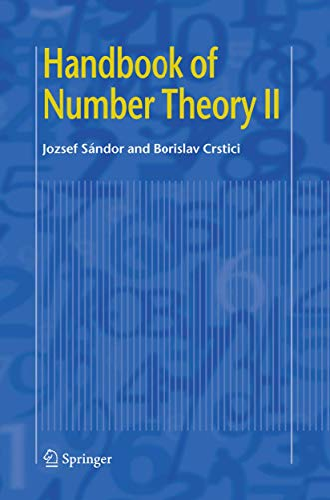9781402048821: Handbook of Number Theory II