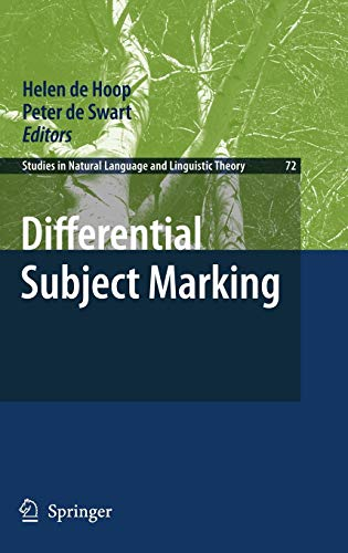 Differential Subject Marking: Preliminary Entry 72 (Hardback)