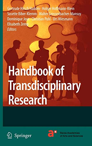Handbook of Transdisciplinary Research: Gertrude Hirsch Hadorn,