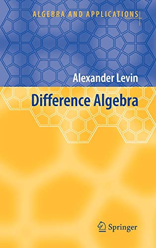 9781402069468: Difference Algebra (Algebra and Applications)