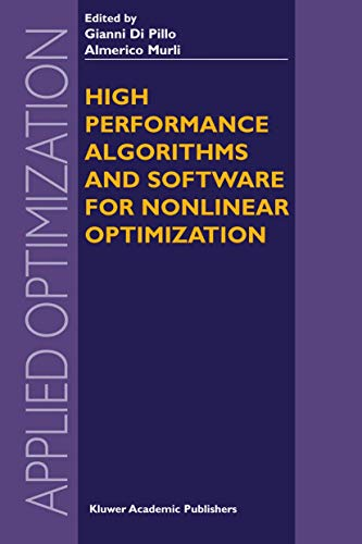 9781402075322: High Performance Algorithms and Software for Nonlinear Optimization (Applied Optimization)