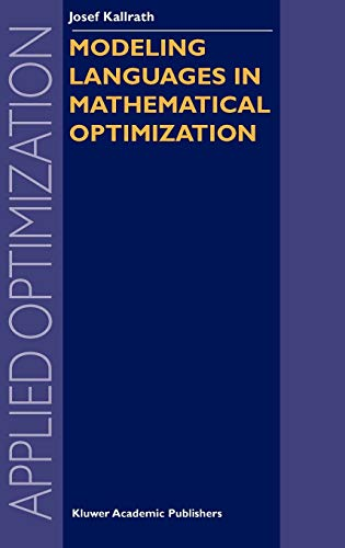 9781402075476: Modeling Languages in Mathematical Optimization (Applied Optimization)
